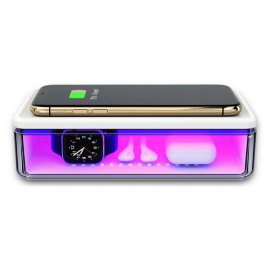 Cutie UV multifunctionala dezinfectie si sterilizare, incarcare wireless, aromaterapie