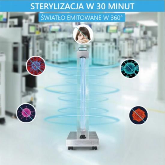Lampa UV C dezinfectie sterilizare si bactericida - cu OZON - 150W - telecomanda - corp inox