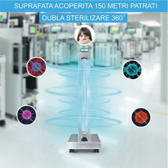 Lampa UVC dezinfectie si sterilizare 150W cu telecomanda - corp inox