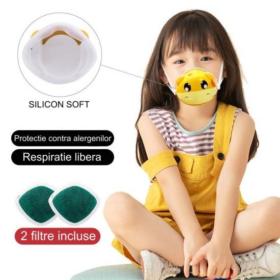Masca de protectie Smart cu ventilatie si filtru activ pentru copii