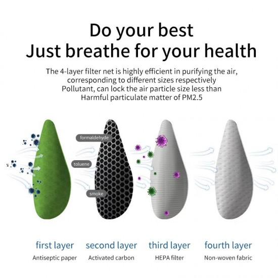 Masca de protectie Smart Deluxe cu ventilatie, filtru purificator carbon activ PM2.5